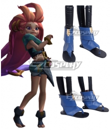 League Of Legends LOL Zoe Render Blue Cosplay Shoes