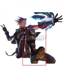 League of Legends Psyops Ezreal Black Shoes Cosplay Boots