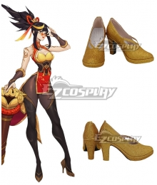 League of Legends The Night Hunter Shauna Vayne Firecracker Vayne Prestige Edition Golden Cosplay Shoes