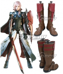 Lightning Returns: Final Fantasy XIII FF13 Lightning Brown Shoes Cosplay Boot