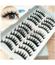 Little Devil Japanese False Eyelashes Ten Pairs Cosplay Accessory Prop