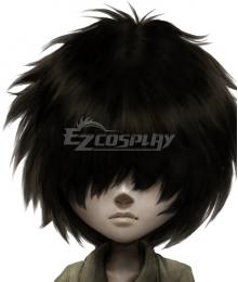 Little Nightmares 2 Mono The Key Black Cosplay Wig