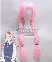 Little Witch Academia Jasminka Antonenko Pink Cosplay Wig