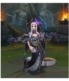 League of Legends LOL Spirit Blossom Cassiopeia Black Skin Cosplay Costume