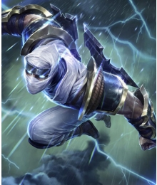 League of Legend LOL Shockblade Zed Cosplay Costume