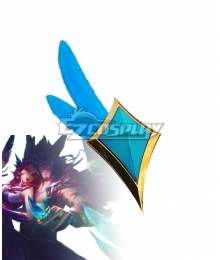League of Legends LOL Star Guardian 2019 Rakan Feather Blade Cosplay Accessory Prop