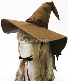 Lolita Series Halloween Wizard Brown Hat Cosplay Accessory Prop