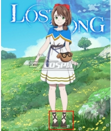 Lost Song Rin Black Cosplay Shoes