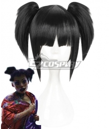 Love Death and Robots The Witness Black Cosplay Wig