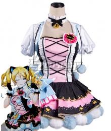 Love Live Eli Ayase Cat Double Pony Tail Lovely Dress Cosplay Costume