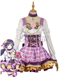 Love Live! Lovelive! Nozomi Tojo School Idol Festival Flower Bouquet Dress Cosplay Costume