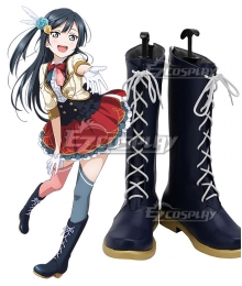 Love Live! Lovelive! PERFECT Dream Project Setsuna Yuki Black Shoes Cosplay Boots