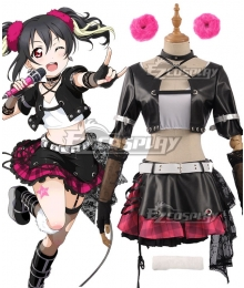 Love Live! Lovelive! Transformed Rock Ver. Nico Yazawa Cosplay Costume