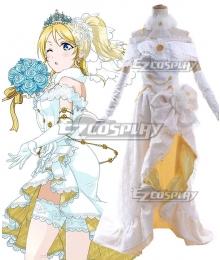 Love Live! Lovelive! Wedding Bride Dress Party Dress Eli Ayase Cosplay Costume