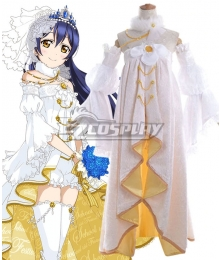 Love Live! Lovelive! Wedding Bride Dress Party Dress Umi Sonoda Cosplay Costume