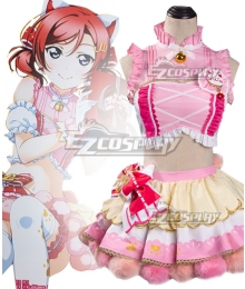 Love Live Maki Nishikino Cat Double Pony Tail Lovely Dress Cosplay Costume