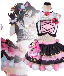 Love Live Nico Yazawa Cat Double Pony Tail Lovely Dress Cosplay Costume