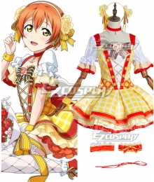 Love Live! Lovelive! Rin Hoshizora School Idol Festival Flower Bouquet Dress Cosplay Costume