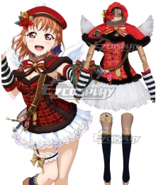 Love Live Sunshine 2018 Anime Aqours Chika Takami Choir Uniforms Cosplay Costume