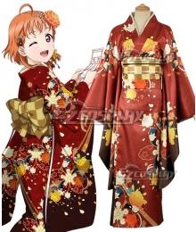 Love Live! Sunshine!! New Year Kimono Chika Takami Cosplay Costume