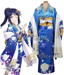 Love Live! Sunshine!! New Year Kimono Kanan Matsuura Cosplay Costume
