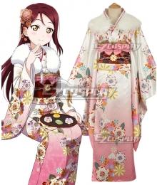 Love Live! Sunshine!! New Year Kimono Riko Sakurauchi Cosplay Costume