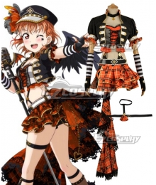 Love Live! Sunshine!! Transformed Punk Rock Chika Takami Cosplay Costume