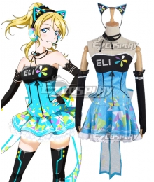 Love Live! lovelive! Cyber Idolized Gaming Game Awaken Eli Ayase Cosplay Costume