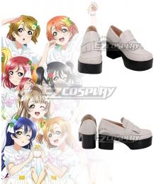 Lovelive μ's 8th A Song for You Honoka Kosaka Nishikino Maki Nozomi Tojo Eli Ayase Rin Hoshizora Umi Sonoda Nico Yazawa Hanayo Koizumi Kotori Minami White Cosplay Shoes