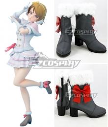 LoveLive! Snow Halation Hanayo Koizumi Black Shoes Cosplay Boots