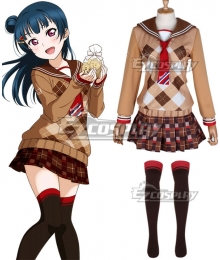 LoveLive! Sunshine!! 2018 Chocolate Valentine's Day Tsushima Yoshiko Cosplay Costume