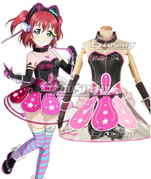 Love Live! lovelive! sunshine!! Cyber Idolized Gaming Game Awaken Ruby Kurozawa Cosplay Costume