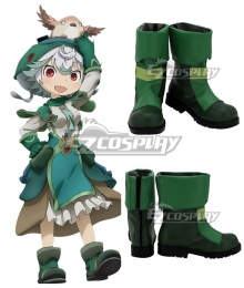 Made In Abyss Prushka Green Shoes Cosplay Boots