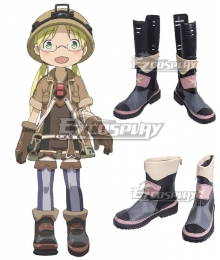 Made in Abyss Riko Black Shoes Cosplay Boots