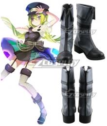 Magia Record: Puella Magi Madoka Magica Side Story Magireco  Alina Gray Black Shoes Cosplay Boots