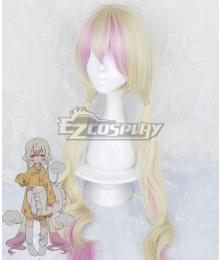 Magical Girl Raising Project Nemurin Pink Golden Cosplay Wig