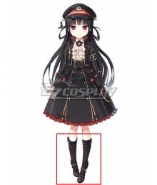 Maitetsu:Pure Station Hachiroku Black Cosplay Boots
