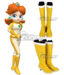 Mario Kart 8 Princess Daisy Bikesuit Golden Shoes Copslay Boots