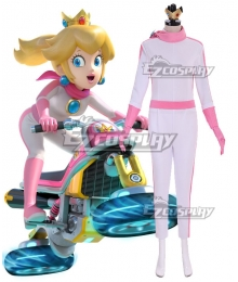 Mario Kart 8 Princess Peach BikeSuit Cosplay Costume