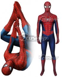 Marvel 2004 Movie Spider-Man 2 Tobey Maguire Zentai Jumpsuit Cosplay Costume