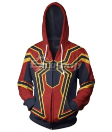 Marvel 2019 Spiderman Spider-Man: Far From Home Peter Parker Spiderman Coat Hoodie Cosplay Costume - A Edition