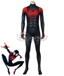 Marvel Spiderman Spider-Man: Into The Spider-Verse Miles Morales Halloween Jumpsuit Cosplay Costume
