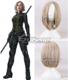 Marvel Avengers 3: Infinity War Black Widow Natasha Romanoff Light Yellow Cosplay Wig