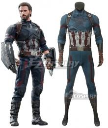 Marvel Avengers 3: Infinity War Captain America Steven Rogers Jumpsuit Cosplay Costume