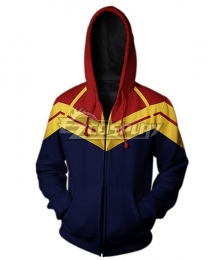 Marvel Avengers 4: Endgame Captain Marvel Carol Danvers Coat Hoodie Cosplay Costume