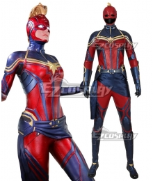 Marvel Avengers 4: Endgame Captain Marvel Carol Danvers Printed Cosplay Costume New EditioN