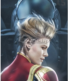 Marvel Avengers 4: Endgame Captain Marvel Carol Danvers Golden Cosplay Wig
