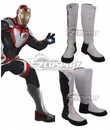 Marvel Avengers: Endgame Avengers Superhero Battle Suit White Shoes Cosplay Boots