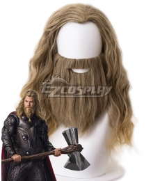 Marvel Avengers: Endgame Thor Brown Cosplay Wig - Wig + Moustache - 405K