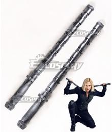 Marvel Avengers 3: Infinity War Black Widow Natasha Romanoff Two Sticks Cosplay Weapon Prop